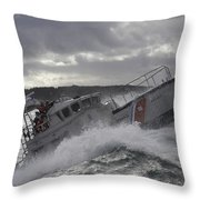 U.s. Coast Guard Motor Life Boat Brakes Throw Pillow by Stocktrek Images