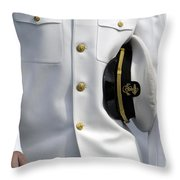 U.s. Naval Academy Midshipman In Dress Throw Pillow by Stocktrek Images