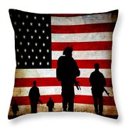 Usa Military Throw Pillow by Angelina Vick