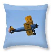 U.s.army Biplane Throw Pillow by David Lee Thompson