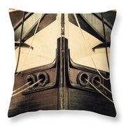 Uss Constellation Throw Pillow by Lisa Russo