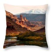 Utah Colorado River Throw Pillow by Marilyn Hunt
