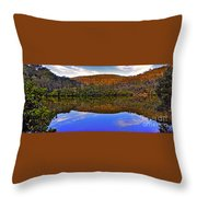 Valley Of Peace Throw Pillow by Kaye Menner