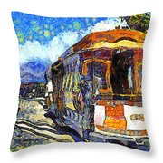 Van Gogh Vacations In San Francisco 7d14099 Throw Pillow by Wingsdomain Art and Photography
