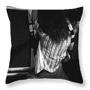 Van Halen's Guitar Eruption Throw Pillow by Ben Upham