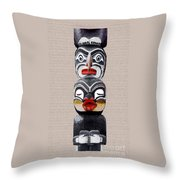 Vancouver Totem - 1 Throw Pillow by Linda  Parker
