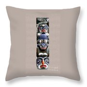 Vancouver Totem - 2 Throw Pillow by Linda  Parker