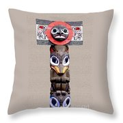Vancouver Totem - 3 Throw Pillow by Linda  Parker