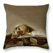 Vanitas Throw Pillow by Jan Davidsz de Heem