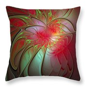 Vase Of Flowers Throw Pillow by Amanda Moore