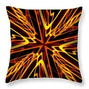 Vectoring The Neon Throw Pillow by David Dunham