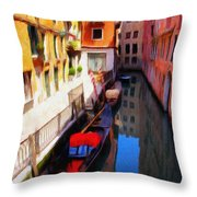 Venetian Canal Throw Pillow by Jeff Kolker