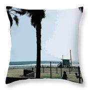 Venice Beach California Throw Pillow by Phill Petrovic