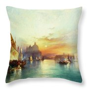 Venice Throw Pillow by Thomas Moran
