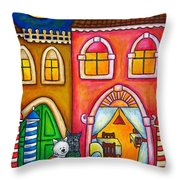 Venice Valentine Throw Pillow by Lisa  Lorenz