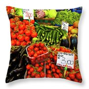Venice Vegetable Market Throw Pillow by Harry Spitz