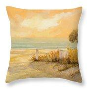 Verso La Spiaggia Throw Pillow by Guido Borelli