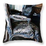 Very Elegant - Very Marie Antoinette Throw Pillow by Georgia Fowler