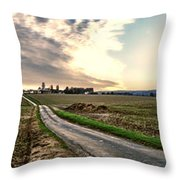 Vexin Landscape Throw Pillow by Olivier Le Queinec