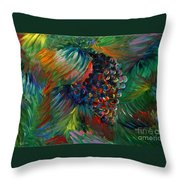 Vibrant Grapes Throw Pillow by Nadine Rippelmeyer