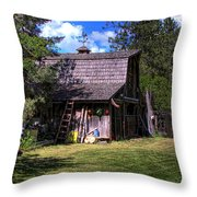 Vic Moore's Barn Throw Pillow by David Patterson