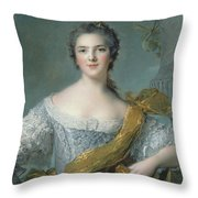 Victoire De France At Fontevrault Throw Pillow by Jean Marc Nattier