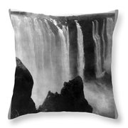 Victoria Falls - C 1911 Throw Pillow by International  Images