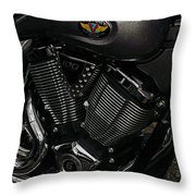 Victory Motorcycle Throw Pillow by Diane E Berry