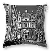 Vienna Scene Throw Pillow by Madeline Ellis