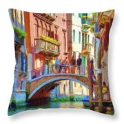 View From The Canal Throw Pillow by Jeff Kolker