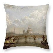 View Of London Throw Pillow by John MacVicar Anderson