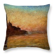 View Of San Giorgio Maggiore Throw Pillow by Claude Monet