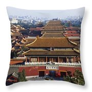 View Of The Forbidden City At Dusk From Throw Pillow by Axiom Photographic