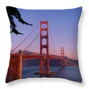 View Of The Golden Gate Bridge Throw Pillow by American School