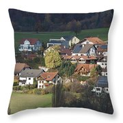 Village Of Residential Homes In Germany Throw Pillow by Greg Dale