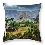 Vinales. Pinar del Rio. Cuba Throw Pillow by Juan Carlos Ferro Duque