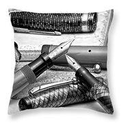 Vintage Fountain Pens Throw Pillow by Tom Mc Nemar