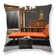 vintage furnitures Throw Pillow by ATIKETTA SANGASAENG