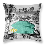 Vintage Miami Throw Pillow by Andrew Fare