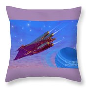 Viper Throw Pillow by Corey Ford