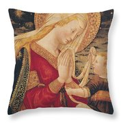 Virgin and Child  Throw Pillow by Neri di Bicci
