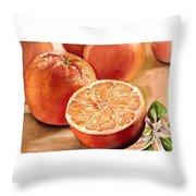 Vitamin C Throw Pillow by Irina Sztukowski