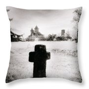 Vlad Draculas Palace Throw Pillow by Simon Marsden