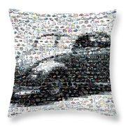 Vw Bug Volkswagen Mosaic Throw Pillow by Paul Van Scott