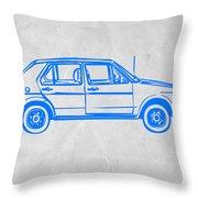 Vw Golf Throw Pillow by Naxart Studio