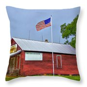 W T Bickets Store In Liberty Throw Pillow by Reid Callaway