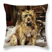 Waiting for Master   Throw Pillow by Jane Bennett Constable