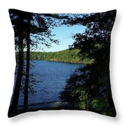 Walden Pond End Of Summer Throw Pillow by Lawrence Christopher