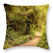 Walk Into The Forest Throw Pillow by Carol Groenen