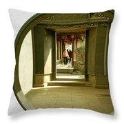 Walk Into The Light - Yuyuan Garden Shanghai China Throw Pillow by Christine Till
